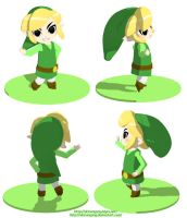 Toon Link 3D by AkiruNyang