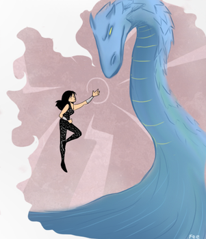 Donna and the dragon by Batfee