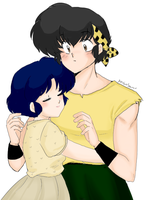 Ryoga and Akane - hug the girl! by AngieSan