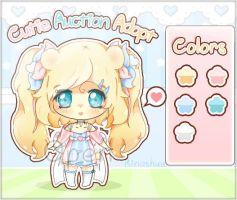 Auction Adopt - Pinky Teddy girl CLOSED! by RinaShuu