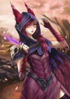 League of Legends Xayah by Zeke-Yggrassil