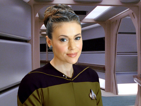 Alyssa Milano as a Bajoran by FruitLoop30