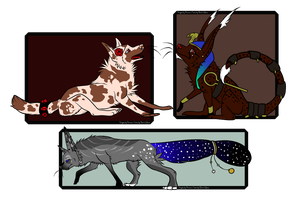 Unique Collab Adopts PayPal/Points -ALL OPEN- by SilenceMoonskin