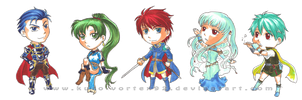 Fire Emblem: Blazing Sword Chibies by MarvelPoison