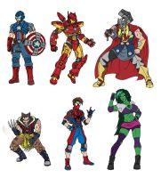 Marvel Redesigns by taresh