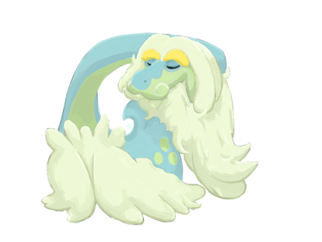 Napping Drampa by UltimateUmbreon3