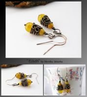Eilidh- wire wrapped earrings by mea00