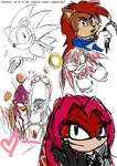 Sonic sketches (chars from Archie comics) by SonicSNAKE
