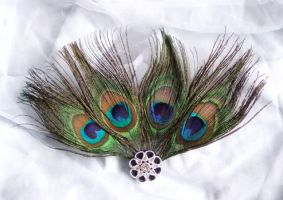 Peacock Fascinator by rascalkosher