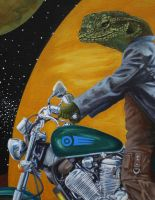 Space Lizards Detail 2 by johannachambers