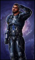 Mass Effect: James Vega by Lukael-Art