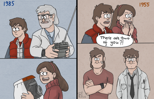 Back to the Future AU by Tenshi-Inverse