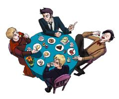 Tea party with Timelords by jay252525