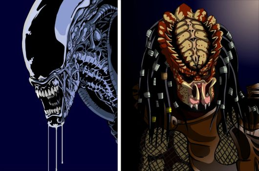 ALIEN and PREDATOR by craigyule