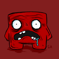 Surprised Super Meat Boy by Garcho