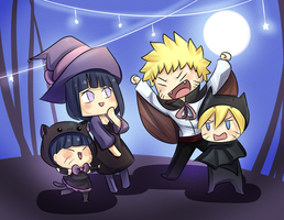 Halloween NaruHina by MintAnnComics