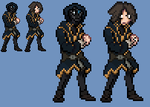 Dishonored : Corvo Attano Sprite by Yukimazan