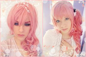 Final Fantasy XIII Lighting x Serah by MiyuDoLLy