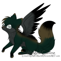 100-7 Themes - Winged Dog Adopt - Adopted by Feralx1