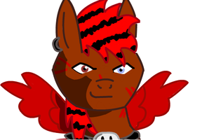 Face shot of blood shed by ponyblu123