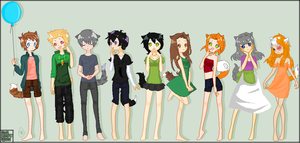 Up and Away!~ Human Warrior Cats by runtyiscute1999