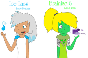 Ice Lass and Brainiac 6 by Snowfeather101