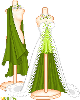 green brides dress by orenji-seira