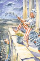 Fishing with Uncle Sam by GeorgeLiquor