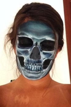X-ray skull facepaint by mariana-a