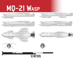 MQ-21 Wasp UCAV by Afterskies