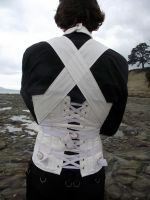 Men's Straight Jacket Corset, Back by Vic-Dustrael