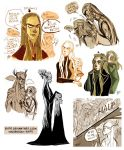 Thranduil-Legolas sketches by Eis91