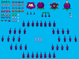 Simple Purple Pikmin Sheet *NEW proportions* by OmegaZero22XX