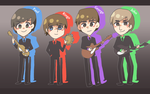 The Beatles - chibi version by Temima
