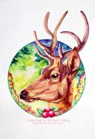 Cranberry Deer by Stasushka