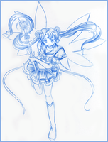 Sailor Moon blue lineart by ChibiArticuno