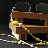 Sunny Yellow Eyeglass Chain by Gilliauna