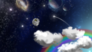 OMMGG SPAACCEE :Space core wp: by Titanium-Zen