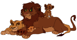 Zira and Kiume's Family by Draco-Digi
