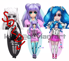 [Open Adopt][Fashion series] Pastel Goth by k4ts
