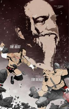 Cm Punk Vs Brock Lesnar w/ Paul Heyman by sentryJ