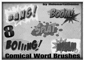 Comical Word Brushes1 by Helenartathome