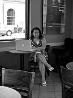 Camouflage 2- Coffee Shop Lady by abflabby