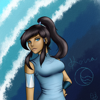Korra Sketch by TheOcarinaOfSlime