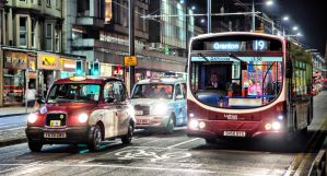 Edinburgh Taxi and Bus by BusterBrownBB