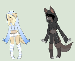 hooded dogs adoptables by Ryanners