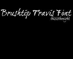 BrushtipTravisFont by thisisthenight