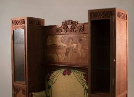 art nouveau sofa and cabinets by inchscaled