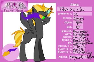 Pegasi high id form: Damini Lia by deviousDEVl