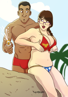 Sizzlin' Summer 2014 - Amanda and Marcus by Odie1049